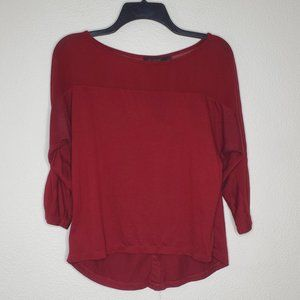 The Limited Red Button Back Blouse